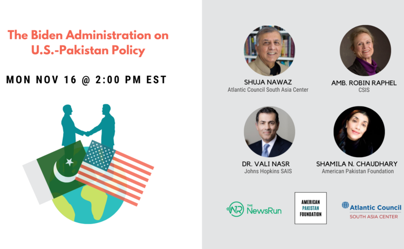 Joint Event: The Biden Administration on U.S.-Pakistan Policy